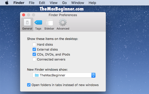 Changing default finder folder featured