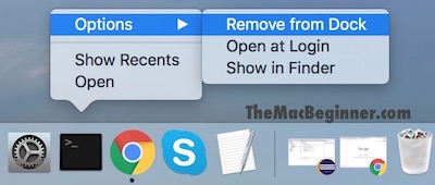 Control click remove option dock