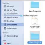 Dragging folder into the sidebar of finder