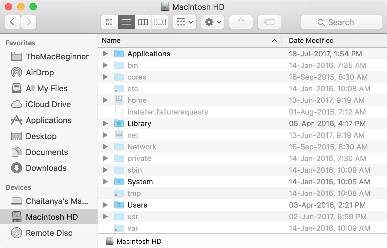 Hidden Files In Mac Root Directory