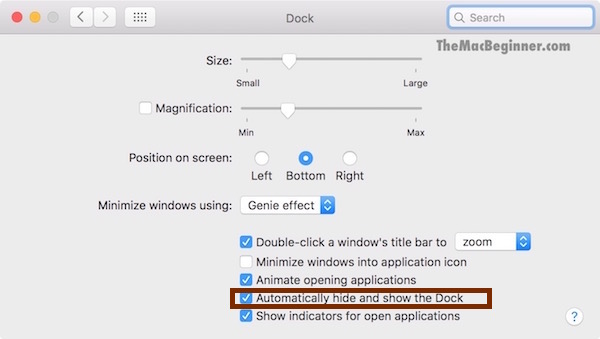Hide from Dock System Preferences