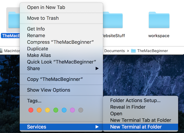 how to open go to folder in mac