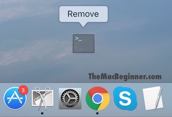 Removing application from Dock