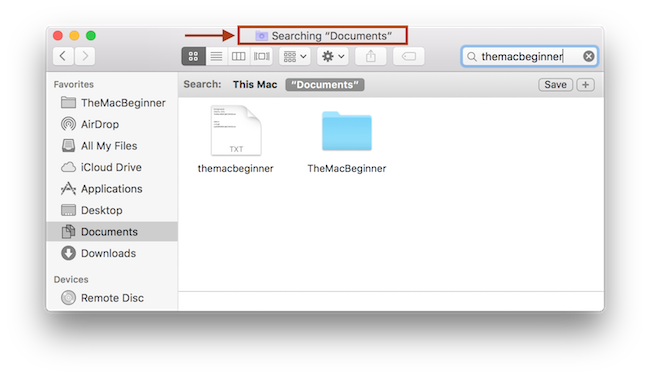 Searching specific folder after the change