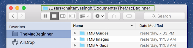Show full path in finder title featured