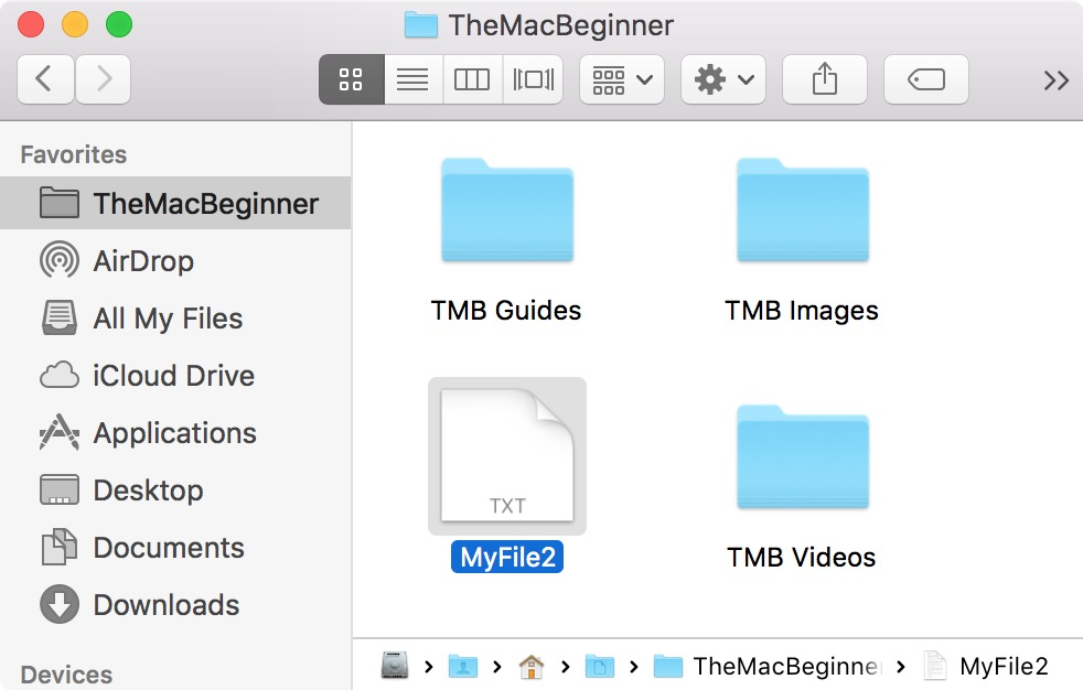 selecting file in finder