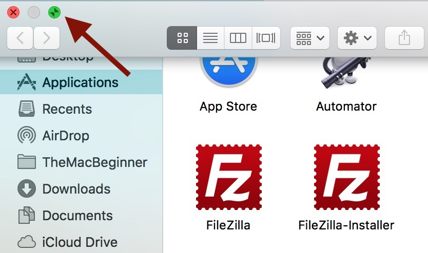 How to exit full screen in Mac OS X